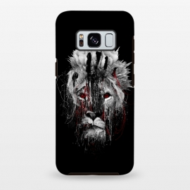 Galaxy S8 plus  Lion BW by  (wildanimals,wildcats,lion,art,design,rizapeker)