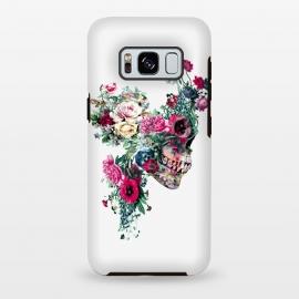 Galaxy S8 plus  Skull VII by  (skull,flowers,baroque,surreal,art,rizapeker)