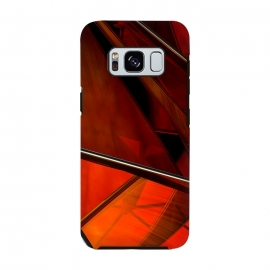 Galaxy S8  Red Plexus by Adoryanti
