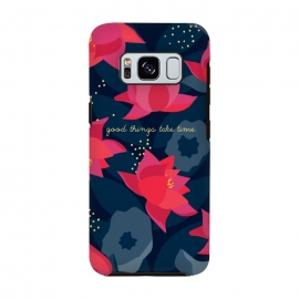 "Galaxy S8  Midnight Flowers - ""Good things take time"" by Stefania Pochesci"