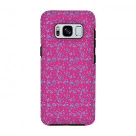 Galaxy S8  Pink Lilac Indian Floral by Zoe Charlotte