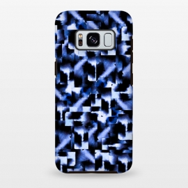 Galaxy S8 plus  Shattered Nights by  (blue,geometric,squares,watercolor)