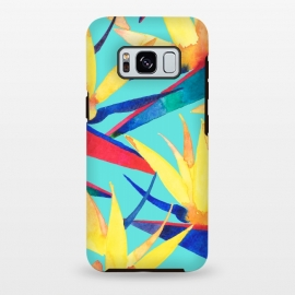 Galaxy S8 plus  Summer Tropics by  (floral,flower,pattern,birdofparadise,strelitzia,tropical,botanical)