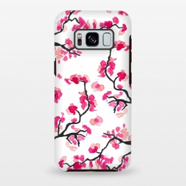 Galaxy S8+  Japanese Cherry Blossoms by Amaya Brydon (cherry,cherryblossoms,japanese,pink,floral,japan,branches)