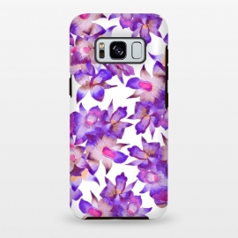 Galaxy S8+  Vintage Floral Violet by Amaya Brydon (orchid,floral,nature,purple,pink,botanical)