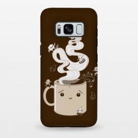 Galaxy S8+  Extreme Coffee Sports by Wotto (coffee,caffiene,coffee lover,mug,java,monday, cute,extreme sports,surfing,skateboarding, sugar cube,splash,cup,fun, kawaii, wotto)