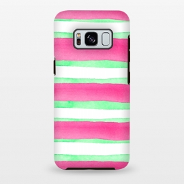 Galaxy S8 plus  Peppermint Candy by  (peppermint,stripes,green,pink,summer)
