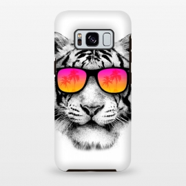 Galaxy S8+  The Coolest Tiger by Mitxel Gonzalez (tiger,cool, tigre,beach,summer,coolest,funny,big cat,cat)