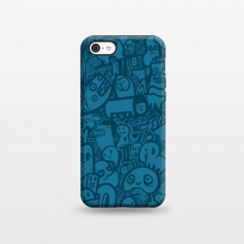 iPhone 5C  Blue Doodle by Wotto