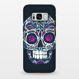 Calavera IV Neon  by Wotto (skull, day of the dead,skulls,floral,sugar skull,neon, neon colors, colorful, death, dead, skull face,roses,flowers,patterned,calavera,mexican art, Mexico, pattern,cool, wotto,dark arts)