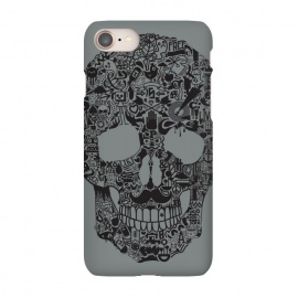 iPhone 7 SlimFit Made of Many Things by Wotto (Skull, many things,vector,detail,detailed,calavera,skulls,illustration,cool, death, dead, symbols, symbolic,death art, dark arts, wotto)