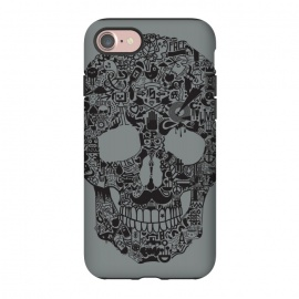 iPhone 8/7 StrongFit Made of Many Things by Wotto (Skull, many things,vector,detail,detailed,calavera,skulls,illustration,cool, death, dead, symbols, symbolic,death art, dark arts, wotto)
