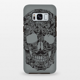 Galaxy S8 plus  Made of Many Things by  (Skull, many things,vector,detail,detailed,calavera,skulls,illustration,cool, death, dead, symbols, symbolic,death art, dark arts, wotto)