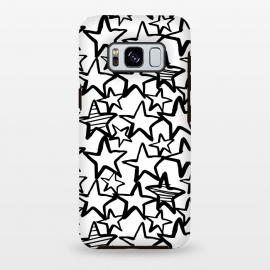 Galaxy S8+  Black and white stars by Laura Grant (star,stars,black and white)