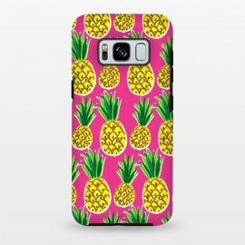 Galaxy S8+  Painted pineapples by Laura Grant (pineapple,fruit,tropical,summer)