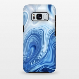 Galaxy S8+  Blue Ocean by Martina (marble, blue, phone case,nature,sea,ocean,stylish,modern,abstract)