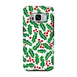 Galaxy S8  Jolly Holly Red and Green by Kimrhi Studios