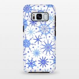 Galaxy S8 plus  Snowflake Twinkle Blue by  (snowflake ,blue,star)