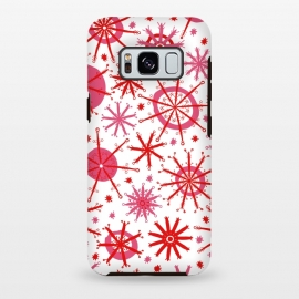 Galaxy S8+  Snowflake Twinkle Pink and Red by Kimrhi Studios ()