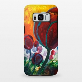 Galaxy S8 plus  Blue High Tulips on Fire by