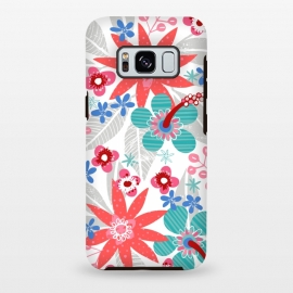 Galaxy S8+  Club Tropicana by Kimrhi Studios (floral,botanical,nature,leaves,hawaii,flowers)