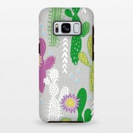 Galaxy S8 plus  Neutral Cakti by  (Cactus,cacti,succulent,geometric)
