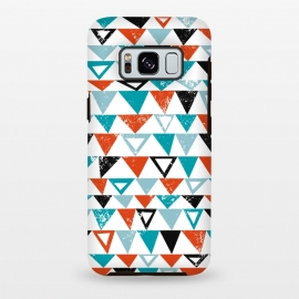 Galaxy S8 plus  Buddy by  (triangle, modern,texture,geo, turqoise,teal)
