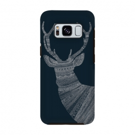 Galaxy S8  Stag Blue Poster blue by Florent Bodart