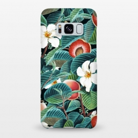 Galaxy S8+  Kalon by Uma Prabhakar Gokhale (acrylic, other, pattern, realism, nature, botanical, floral, fruit, leaves, peach, tropical, dark, forest, exotic)