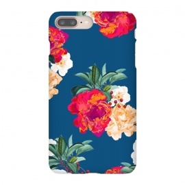 iPhone 8/7 plus  Romancing Nature by  (acrylic, watercolor, pattern, realism, floral, nature, tropical, roses, flowers, exotic, botanical, leaves)