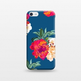 iPhone 5C  Romancing Nature by Uma Prabhakar Gokhale (acrylic, watercolor, pattern, realism, floral, nature, tropical, roses, flowers, exotic, botanical, leaves)