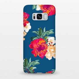 Galaxy S8+  Romancing Nature by Uma Prabhakar Gokhale (acrylic, watercolor, pattern, realism, floral, nature, tropical, roses, flowers, exotic, botanical, leaves)