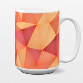15 oz Standard Mug Meduzzle: Blond by Sitchko Igor (Geometry,vector,meduzzle,texture,triangle,triangles,minimal,abstract,colorful,geo)