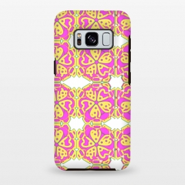 Galaxy S8 plus  The Spirit of the Flower by  (spiritual,mandala,flower,floral,pattern,pink,pink and yellow)