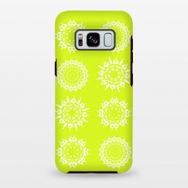 Galaxy S8+  Oh Chartreuse! by Bettie * Blue (mandala,chartreuse,green,spring,flowers,geometric,floral,happy)