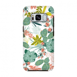 Galaxy S8  Succulent Garden White by Heather Dutton