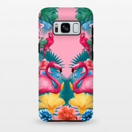 Galaxy S8 plus  Flamingo and Tropical garden by