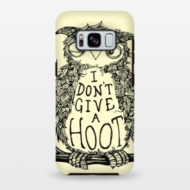 No Hoots Given by Wotto (Nature,owl,hoot,attitude, type, saying, slogan,no hoots,grumpy,owl art,pattern,detailed,drawing,hand drawn,bird,tree,cream,angry bird,typography,slogan art,inspirational,no worries,no cares,free,wotto, cute character, cute bird)