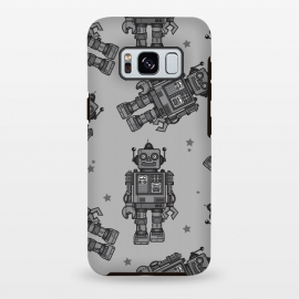 Galaxy S8+  A Vintage Robot Friend Pattern  by Wotto (robot,toy,robots, robot pattern,robot art,vector,tin toys, vintage toys,beep bop,pattern,space, future,science,robotic,cute, fun, nostalgia ,wotto)