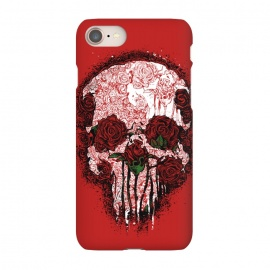 iPhone 7 SlimFit Skull Roses by Branko Ricov (skull, roses,skull roses,red,hot,cool,sexy)