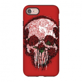 iPhone 8/7  Skull Roses by Branko Ricov (skull, roses,skull roses,red,hot,cool,sexy)