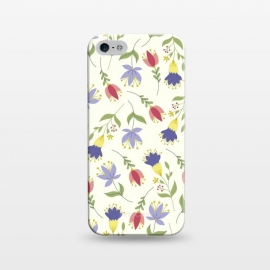 iPhone 5/5E/5s  Floral Toss by TracyLucy Designs (floral,pattern,spring,summer,nature)