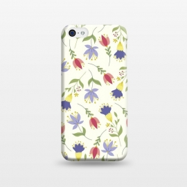 iPhone 5C  Floral Toss by TracyLucy Designs (floral,pattern,spring,summer,nature)