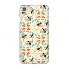 iPhone 7  Honeybee by TracyLucy Designs (Honey,bees,instects,summer ,pattern)