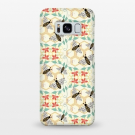 Galaxy S8+  Honeybee by TracyLucy Designs (Honey,bees,instects,summer ,pattern)