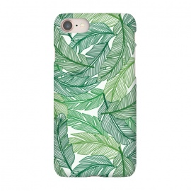 iPhone 7  Palms by TracyLucy Designs (palms,summer,pattern,tropical,green)
