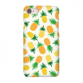 iPhone 7  Pineapple Galore by TracyLucy Designs (pineapple,summer,pattern,fruit,tropical)