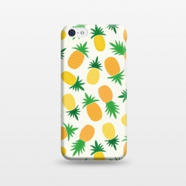 iPhone 5C  Pineapple Galore by TracyLucy Designs (pineapple,summer,pattern,fruit,tropical)