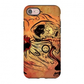 iPhone 8/7  Ghost flame skull by David dejaun johnson