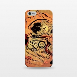iPhone 5/5E/5s  Ghost flame skull by David dejaun johnson
